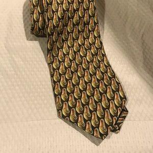 ERMENEGILDO ZEGNA Cactus Flower Pot Silk Tie